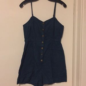 Cope teal romper